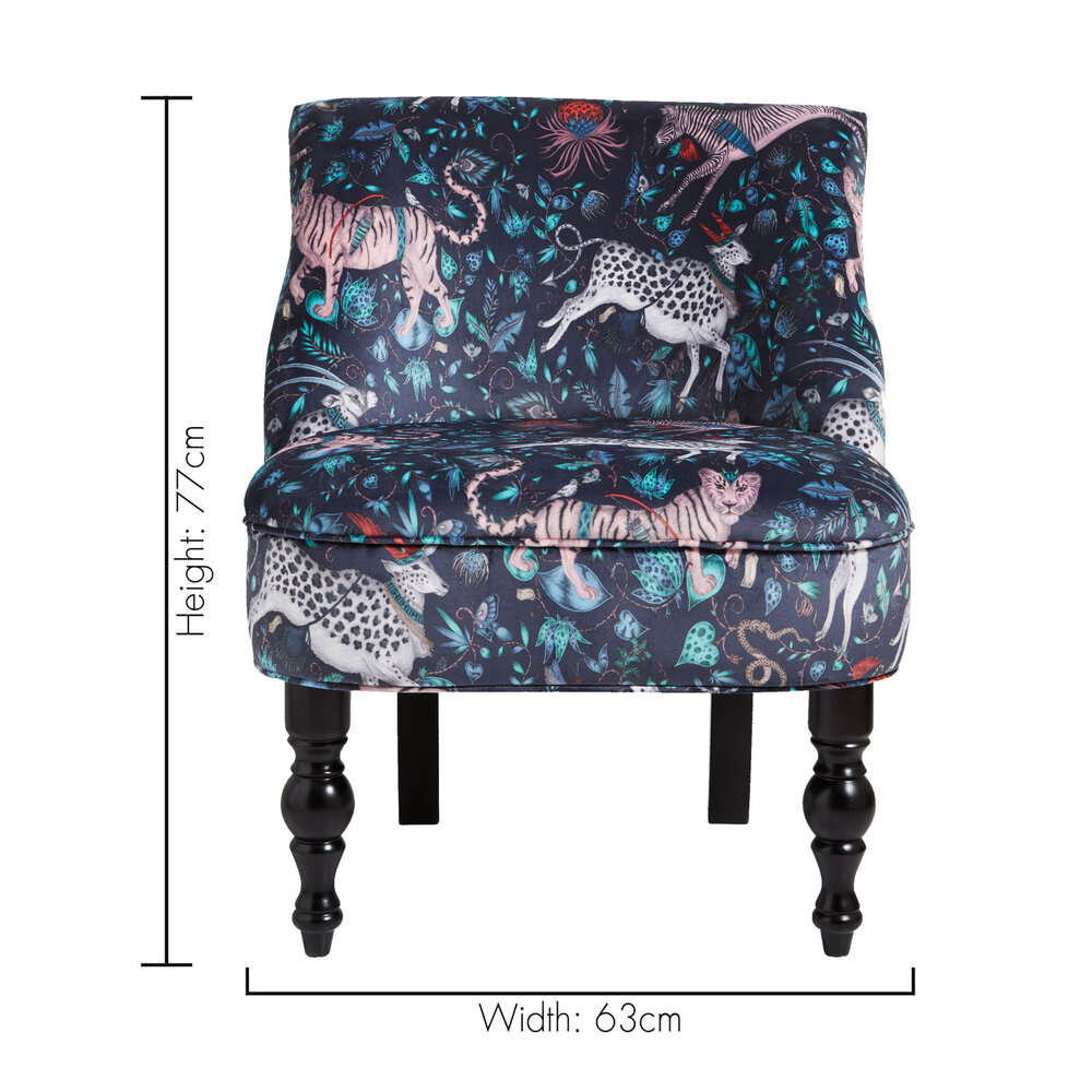 Langley Chair - Protea  Armchair - Navy - by Emma J Shipley