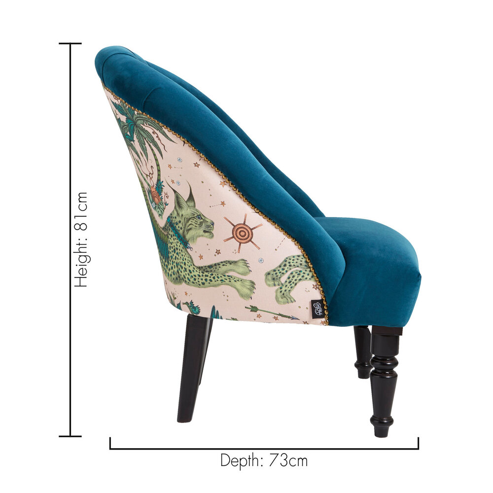 Soho Chair - Lynx  Armchair - Pink - by Emma J Shipley
