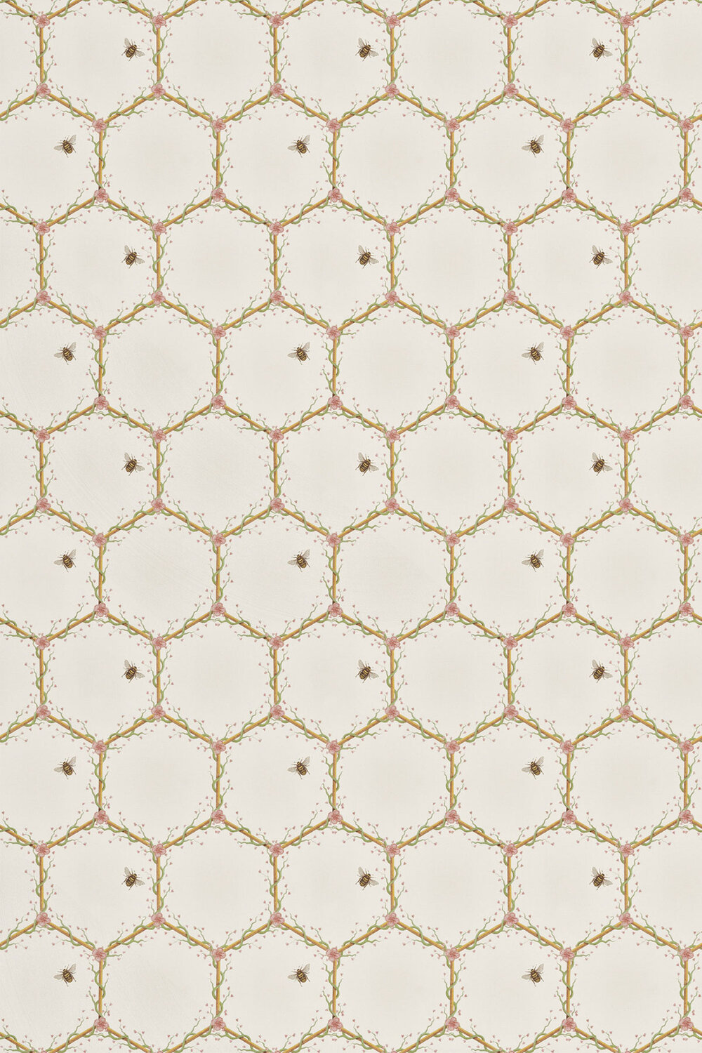 Honeycomb Fabric - Cream - by The Chateau by Angel Strawbridge