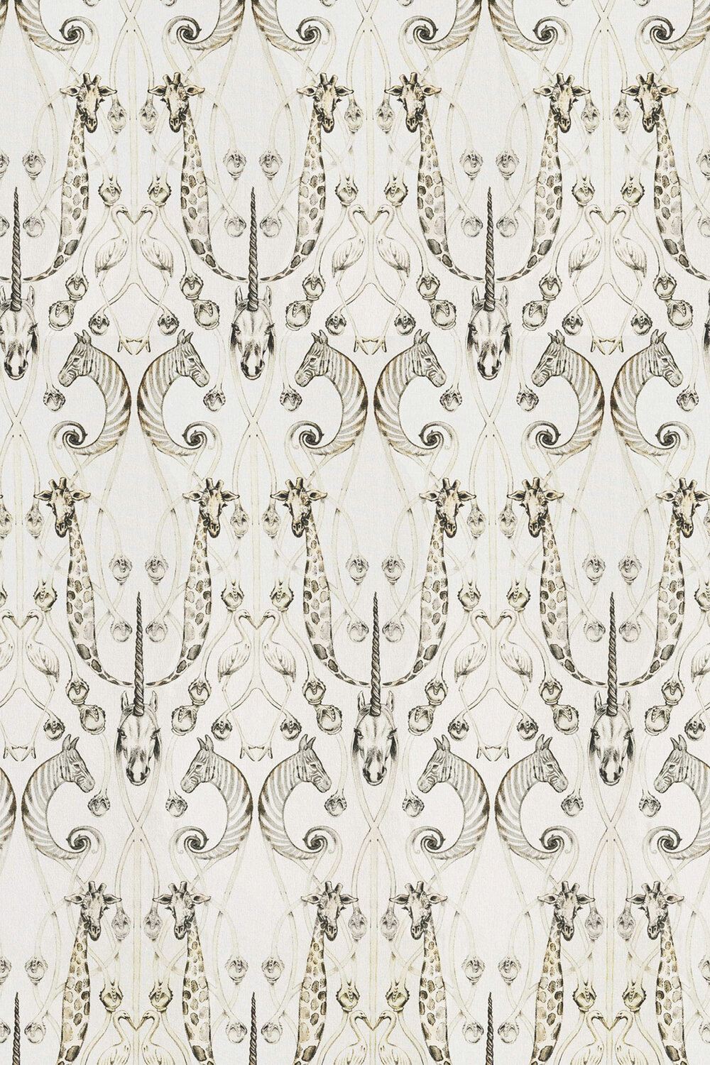 Le Chateau des Animaux  Fabric - Natural - by The Chateau by Angel Strawbridge