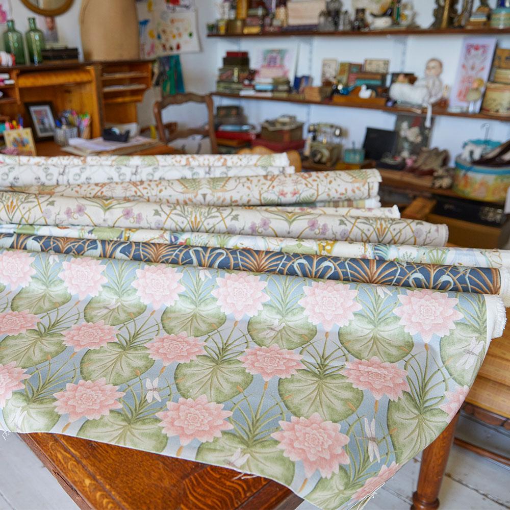 Lily Garden Fabric - Eau De Nil - by The Chateau by Angel Strawbridge