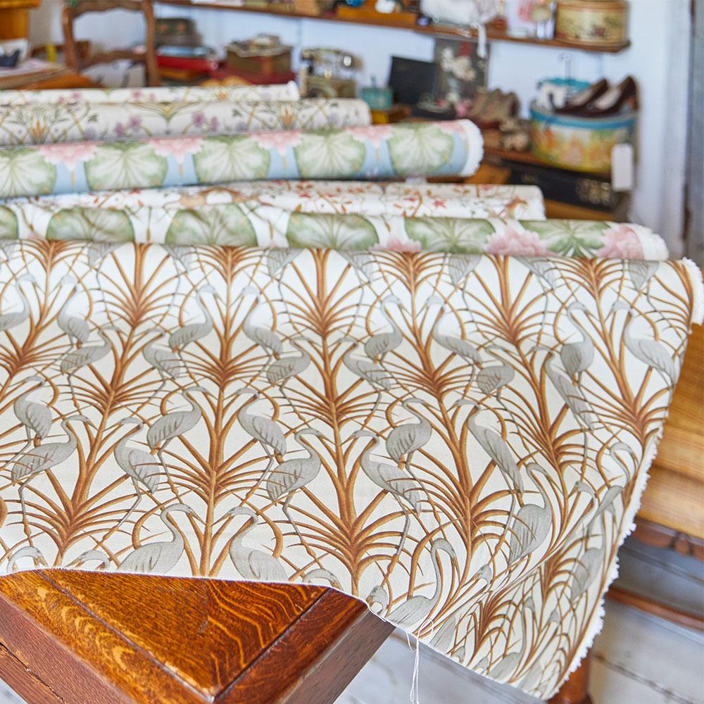 Nouveau Heron Fabric - Cream - by The Chateau by Angel Strawbridge