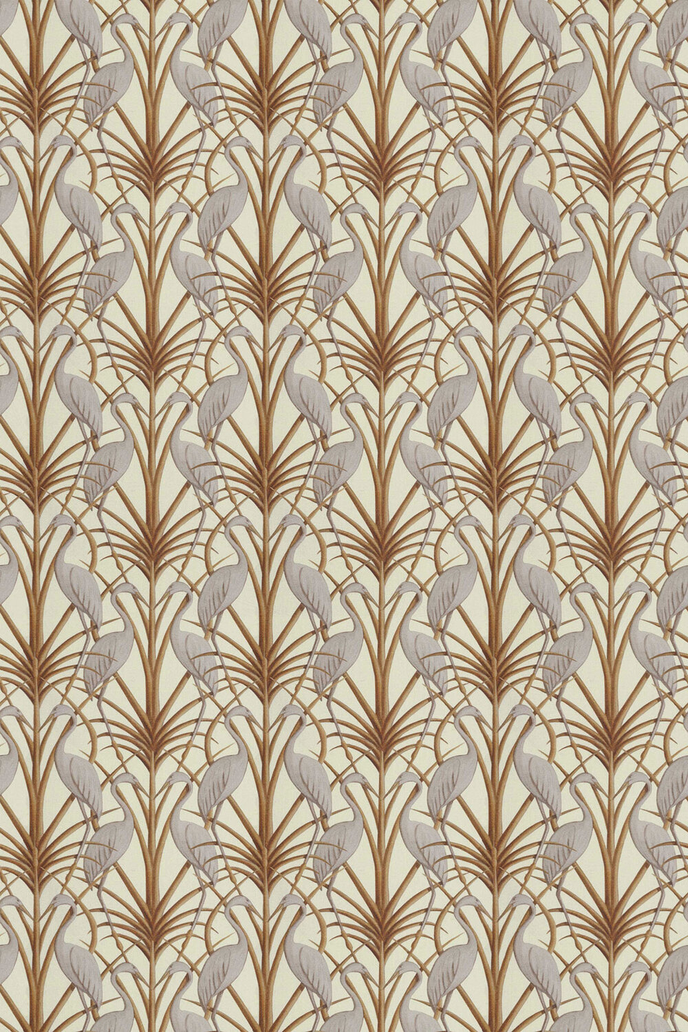 Nouveau Heron Fabric - Cream - by The Chateau by Angel Strawbridge