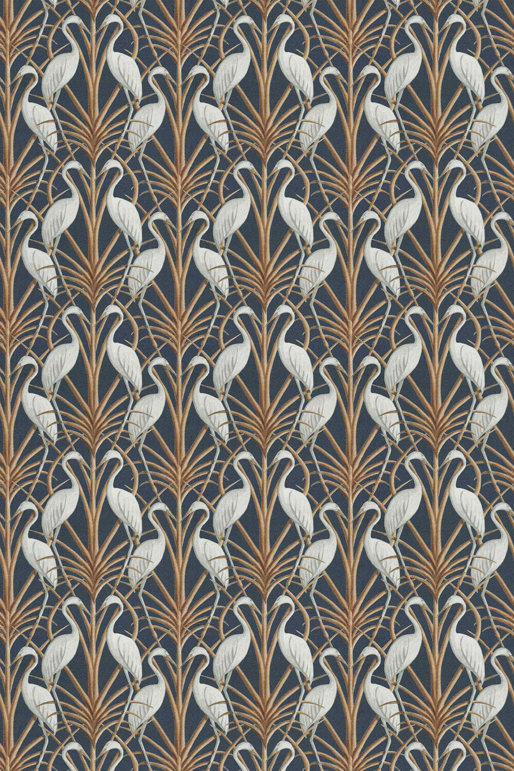 Nouveau Heron Fabric - Navy - by The Chateau by Angel Strawbridge