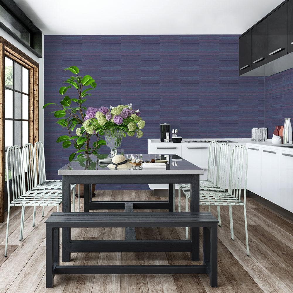 Silk Wallpaper - Blue/ Purple - by Coordonne