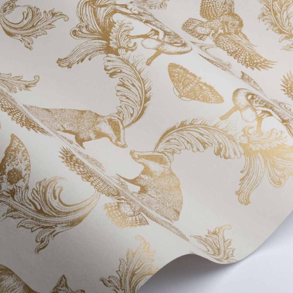 Dipped in Moonlight Wallpaper - Cream / Gold - by Graduate Collection