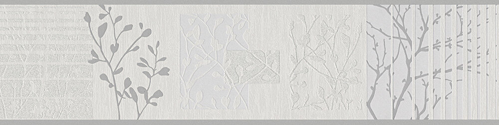 Trailing Foliage Border - Silver - by Albany
