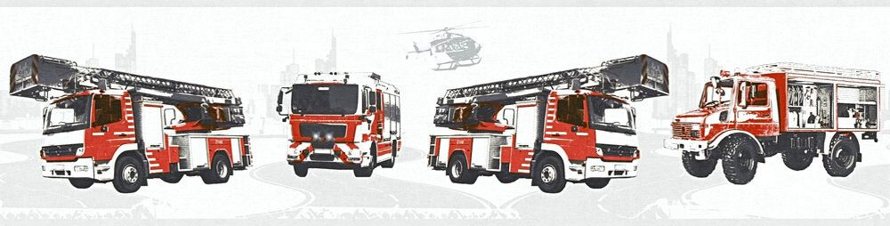 Fire Truck Border - White - by Albany