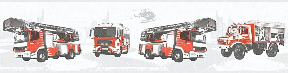 Fire Truck Border - Grey - by Albany