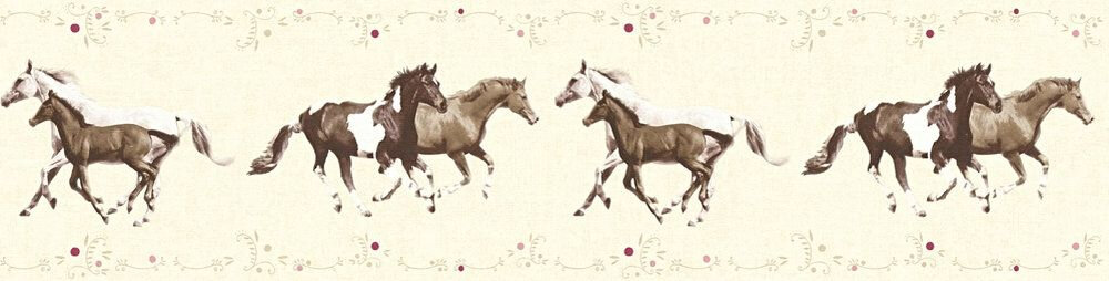 Horses Border - Cream - by Albany
