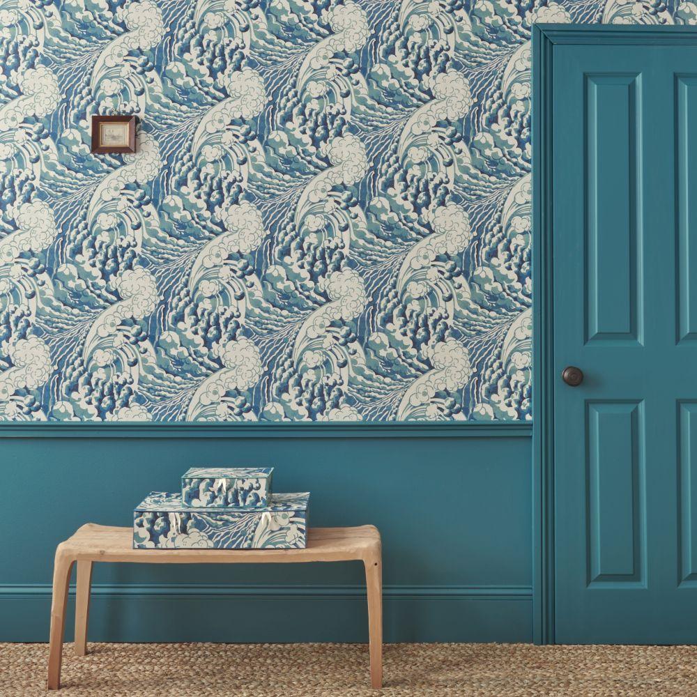 The Wave Wallpaper - Ocean - by Linwood