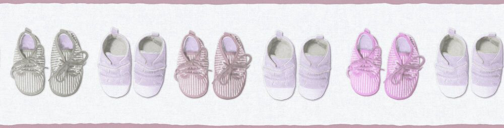 Little Shoes Border - Pink - by Albany