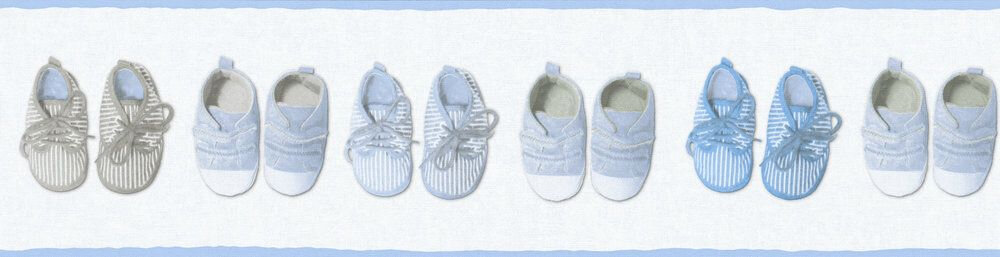 Little Shoes Border - Blue - by Albany
