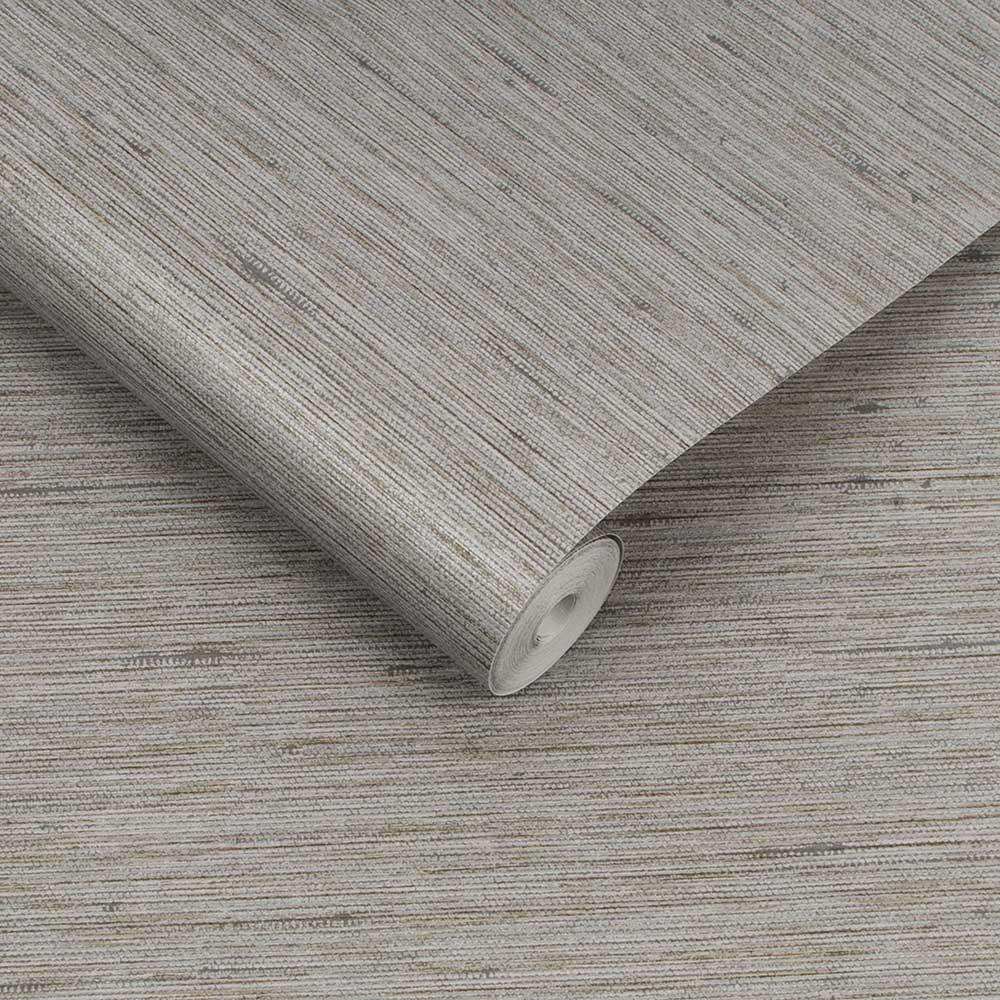 Silk Texture Wallpaper - Ecru - by Graham & Brown