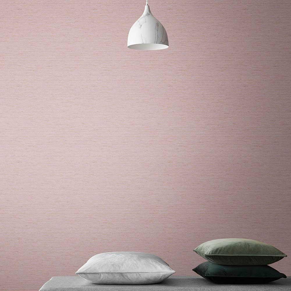 Silk Texture Wallpaper - Blush - by Graham & Brown