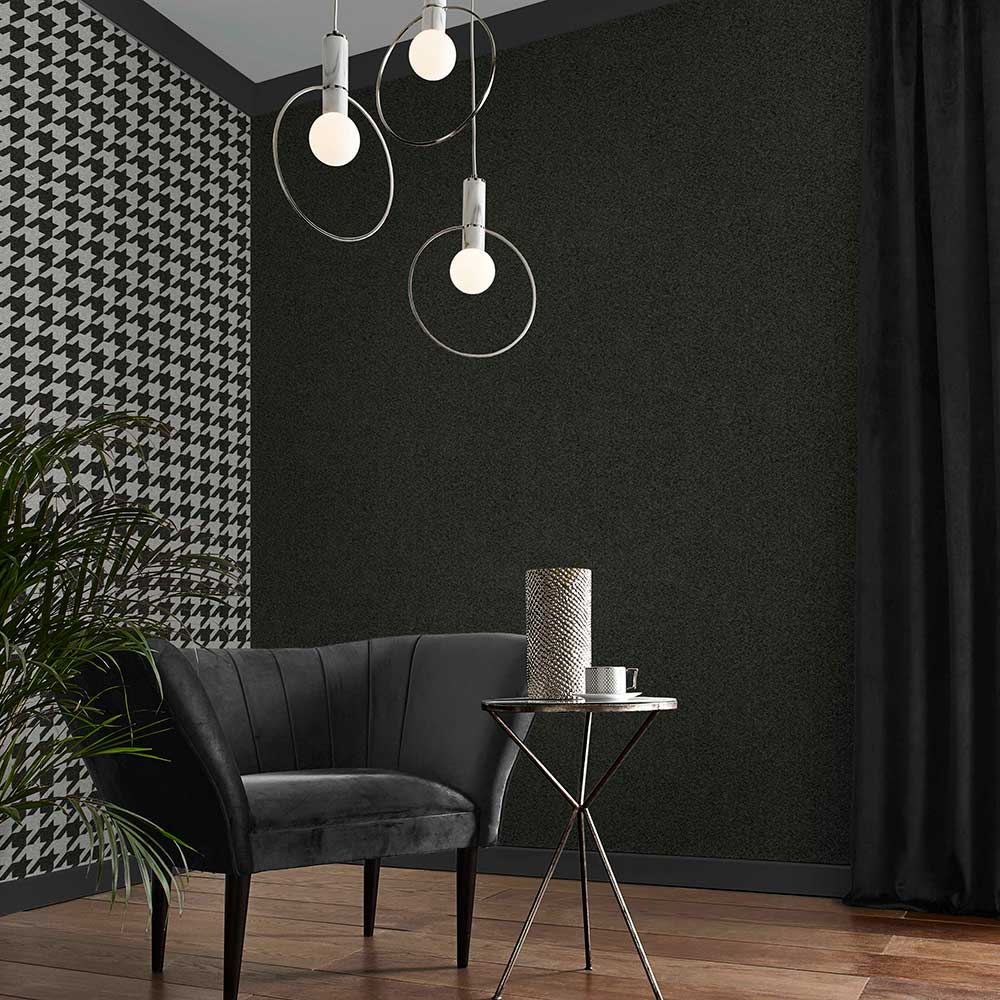 Christian Texture Wallpaper - Charcoal - by Graham & Brown