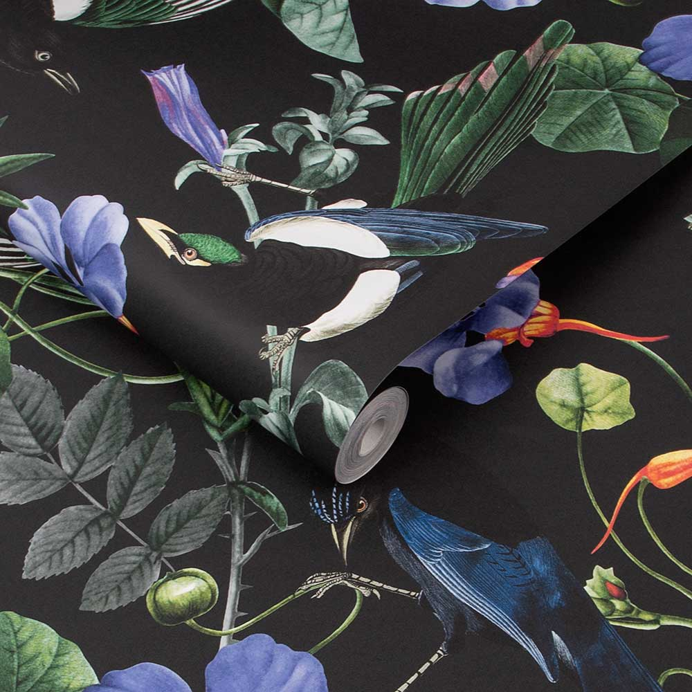 Magpie Wallpaper - Multi-coloured - by Graham & Brown