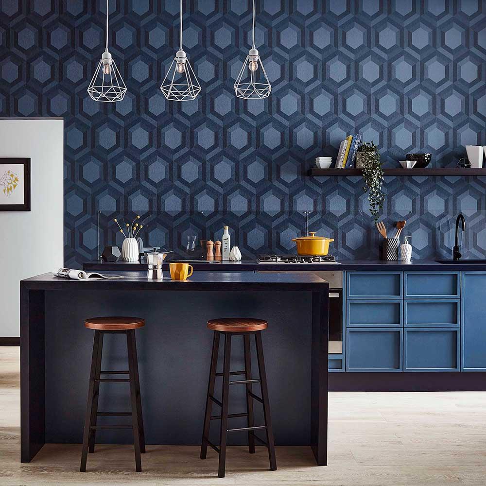 Thales Wallpaper - Aqueous - by Graham & Brown