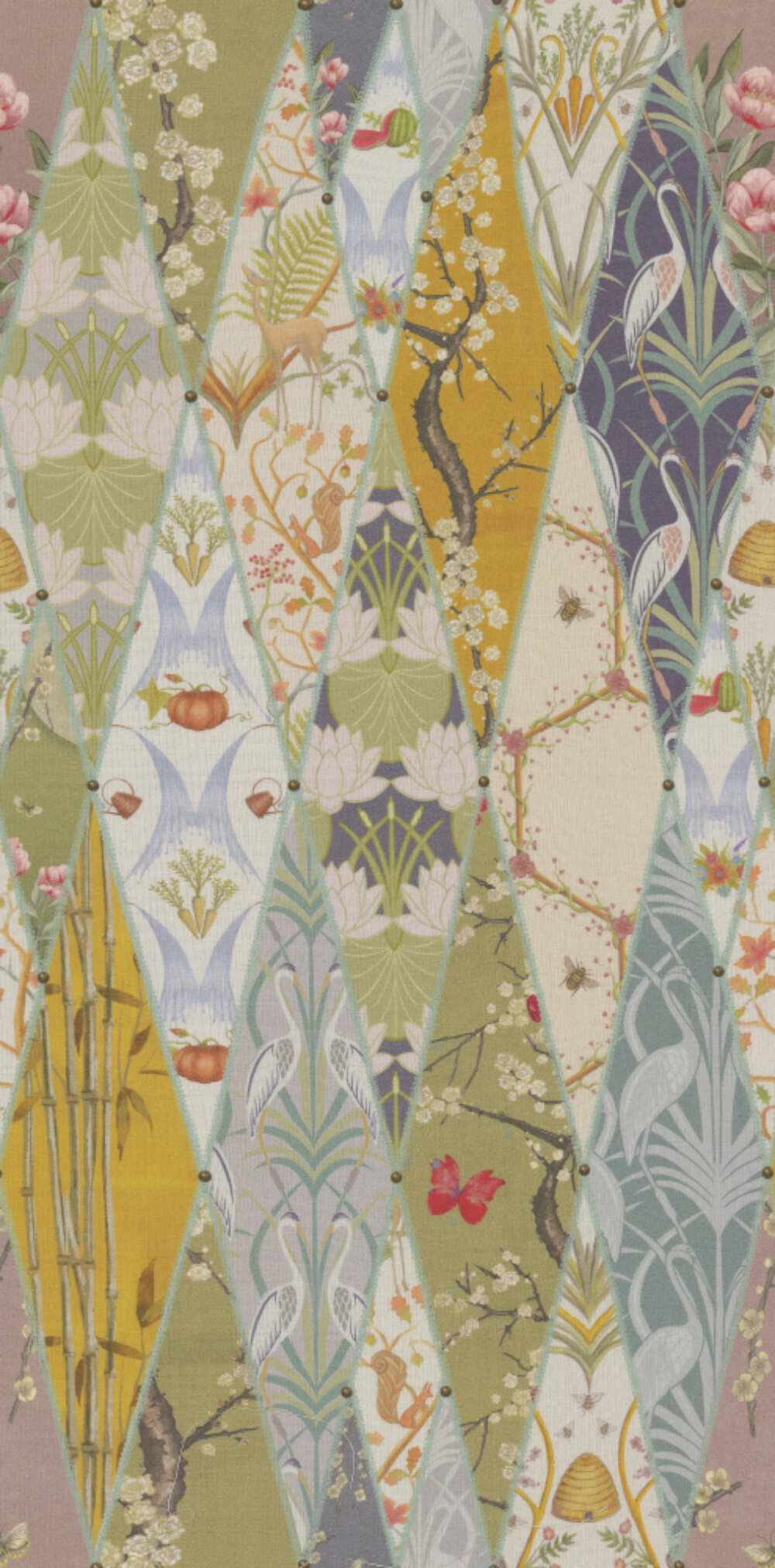 Nouveau Wallpaper Fabric - Multi - by The Chateau by Angel Strawbridge