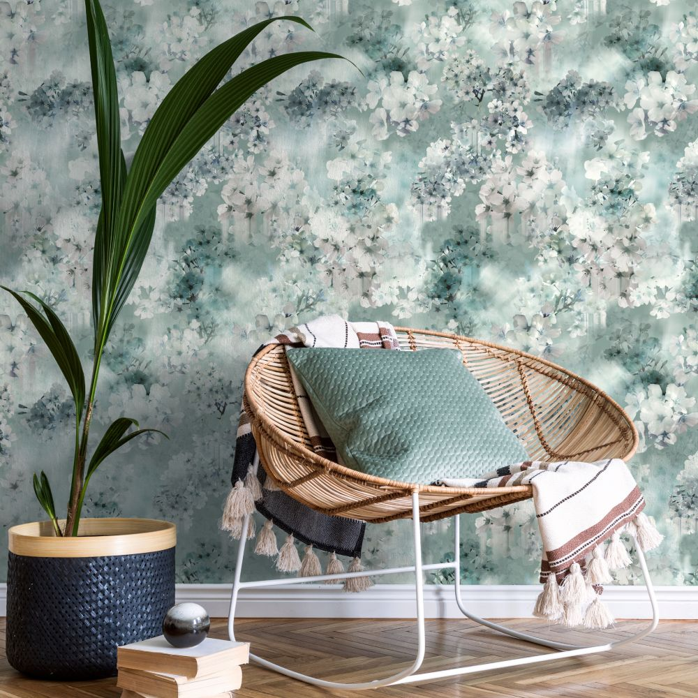 Vanilla Wallpaper - Light Blue - by Ted Baker