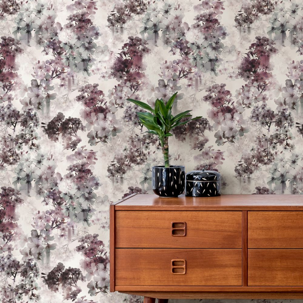 Vanilla Wallpaper - Blush - by Ted Baker