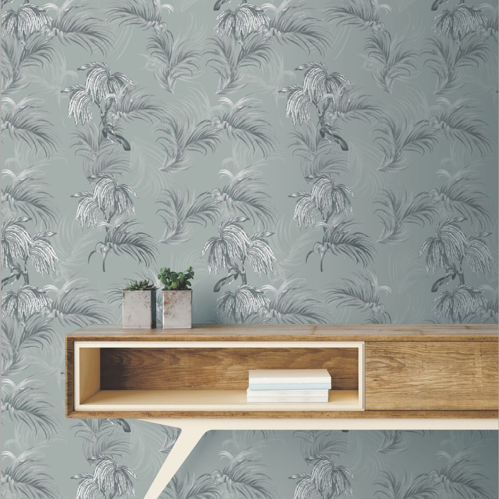 Horizon Wallpaper - Grey - by Ted Baker