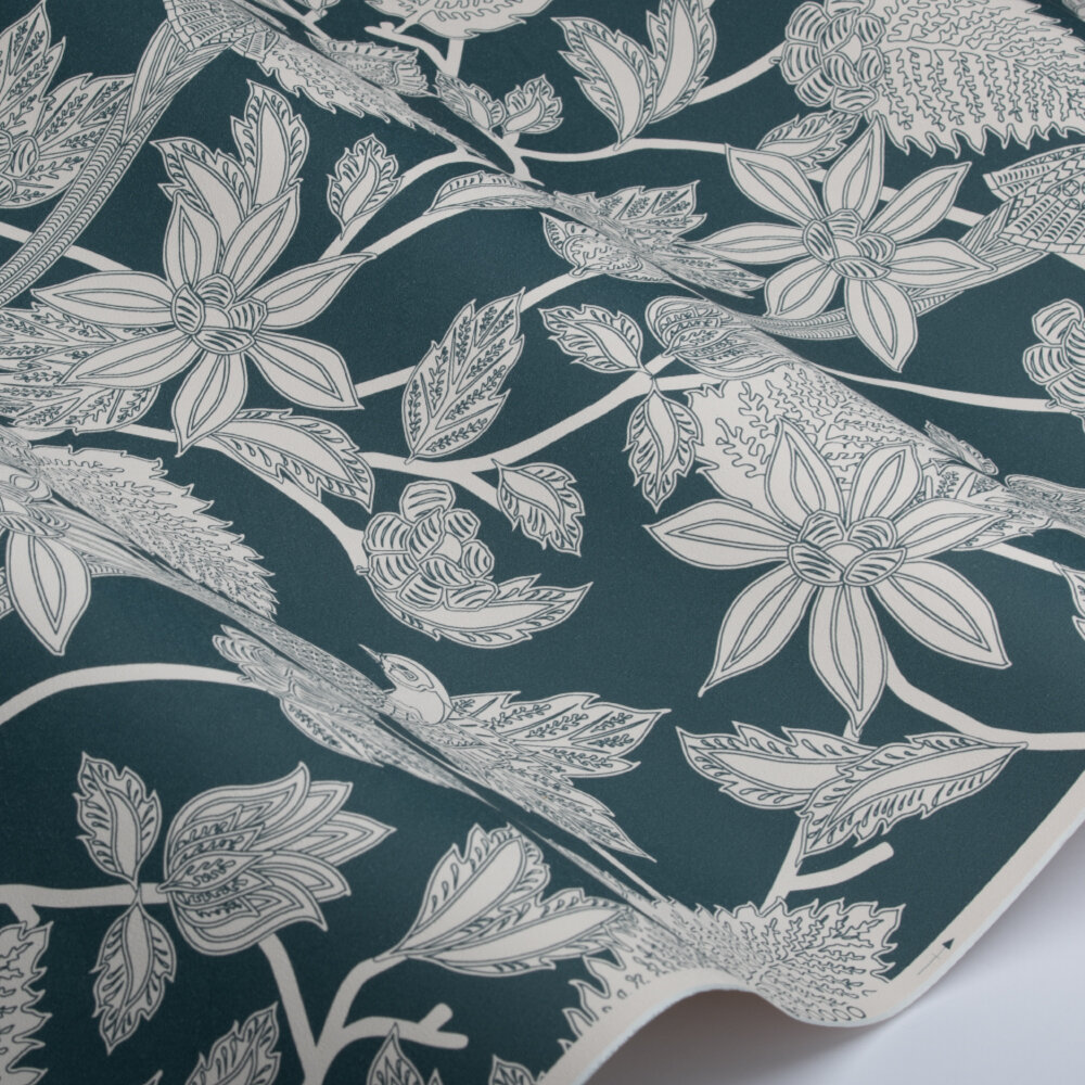 Benga  Wallpaper - Teal - by Ted Baker