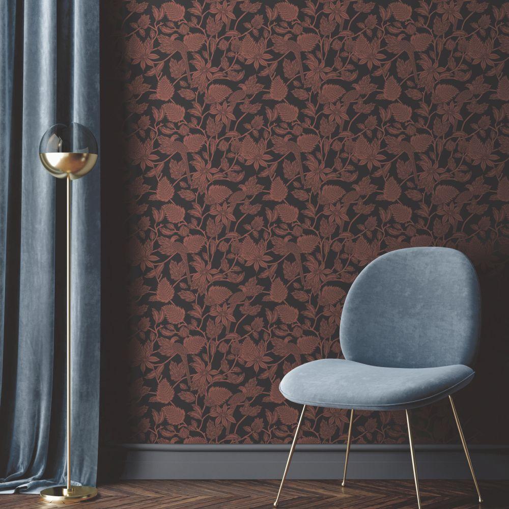Benga  Wallpaper - Crimson - by Ted Baker