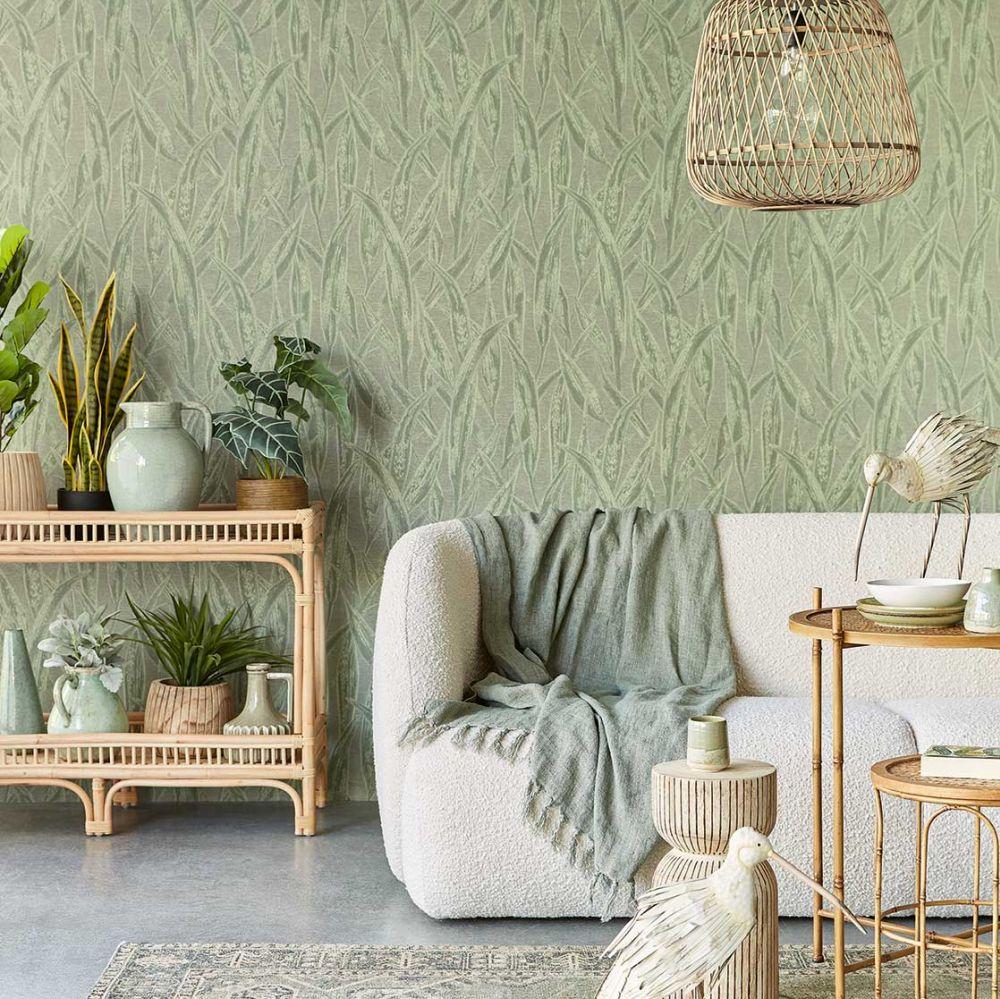 Fields Of Gold Wallpaper - Green - by Eijffinger