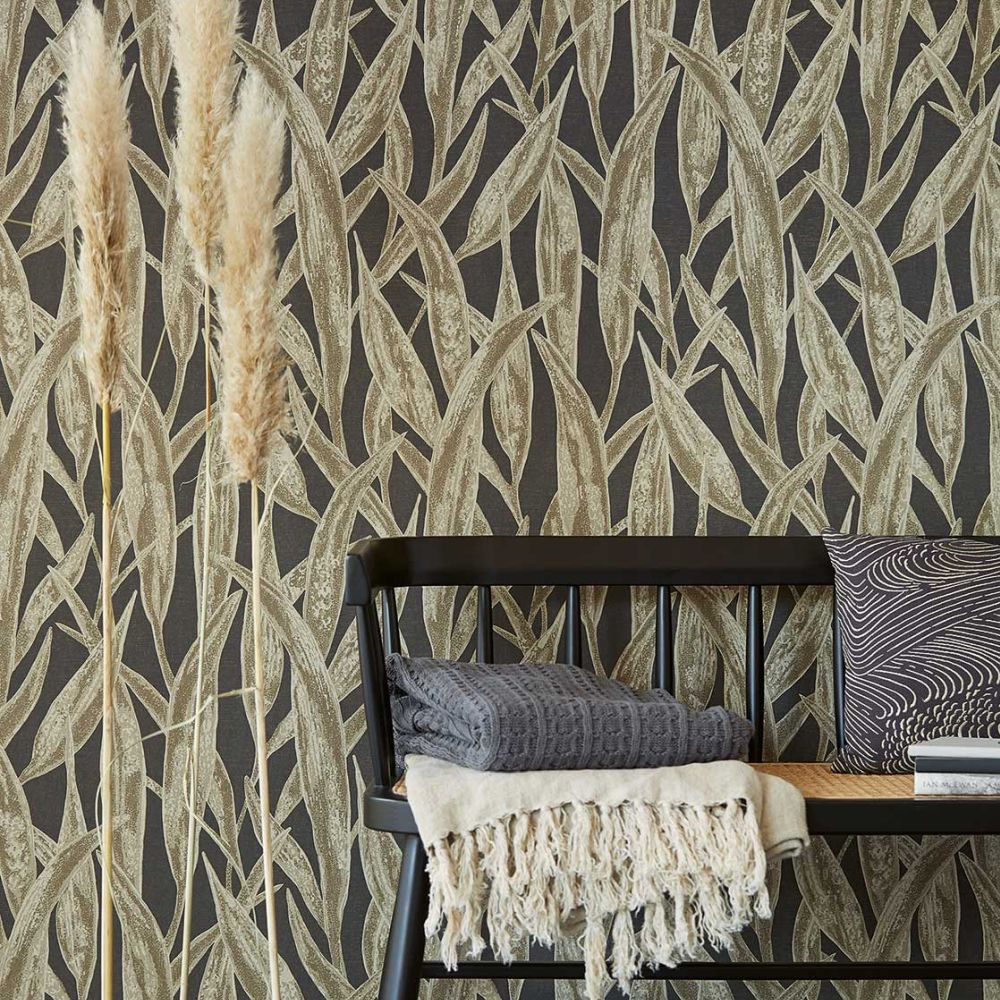 Fields Of Gold Wallpaper - Black - by Eijffinger