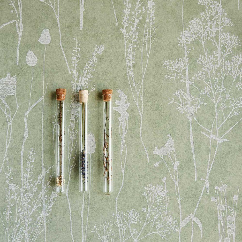 Dried Florals Wallpaper - Beige - by Eijffinger