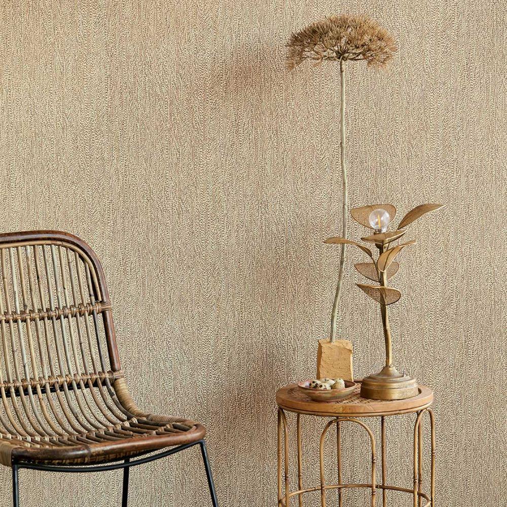 Textured Plain Wallpaper - Rust - by Eijffinger