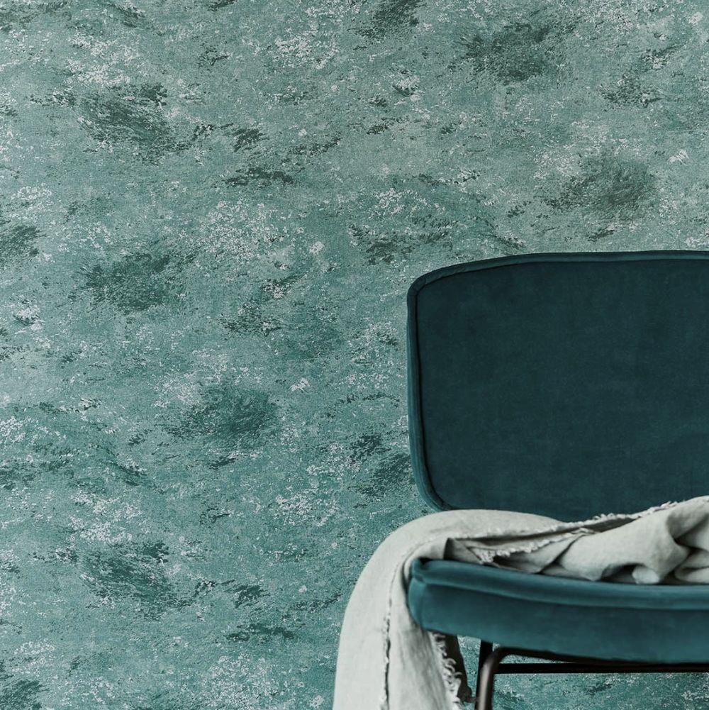 Storms Wallpaper - Teal - by Eijffinger