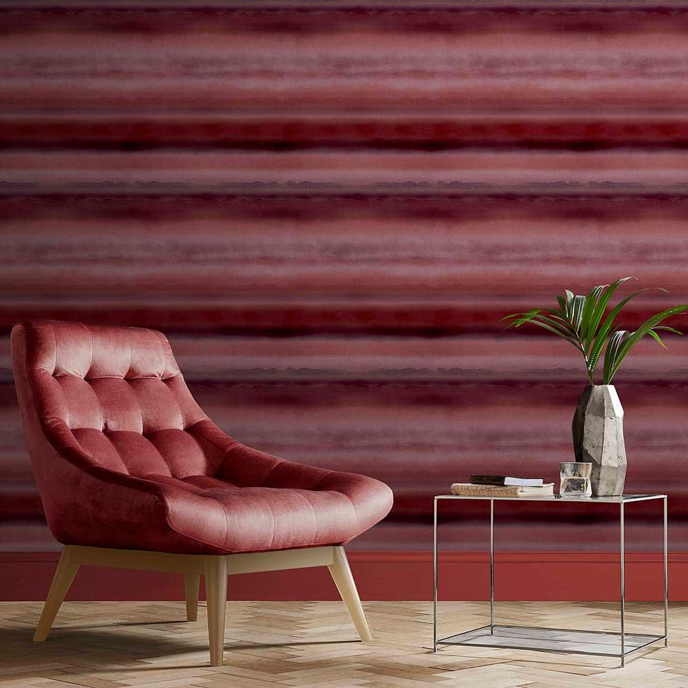 Horizon Wallpaper - Ruby - by Graham & Brown