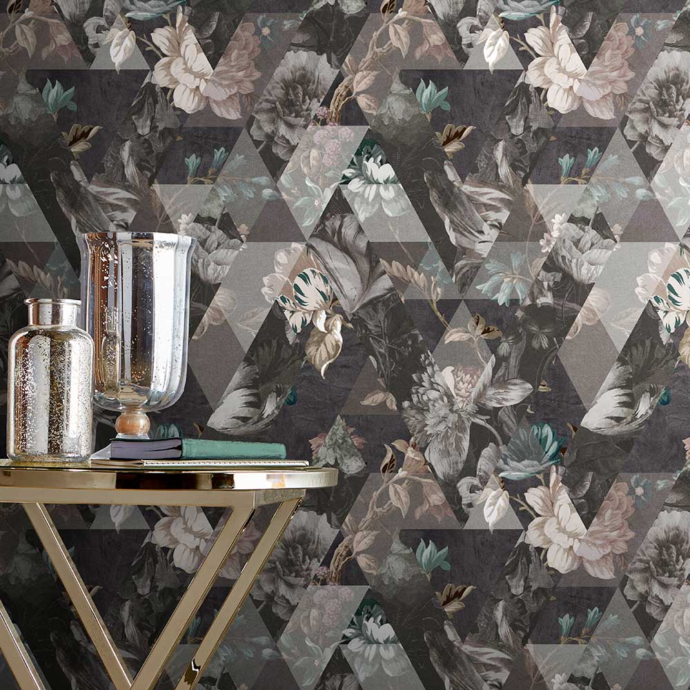 Timepiece Wallpaper - Moonstone - by Graham & Brown