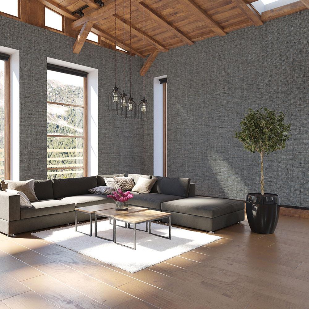 Tweed Wallpaper - Blue Brown - by Coordonne