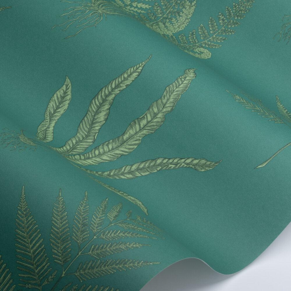 Woodland Ferns Wallpaper - Eucalyptus  - by Sanderson