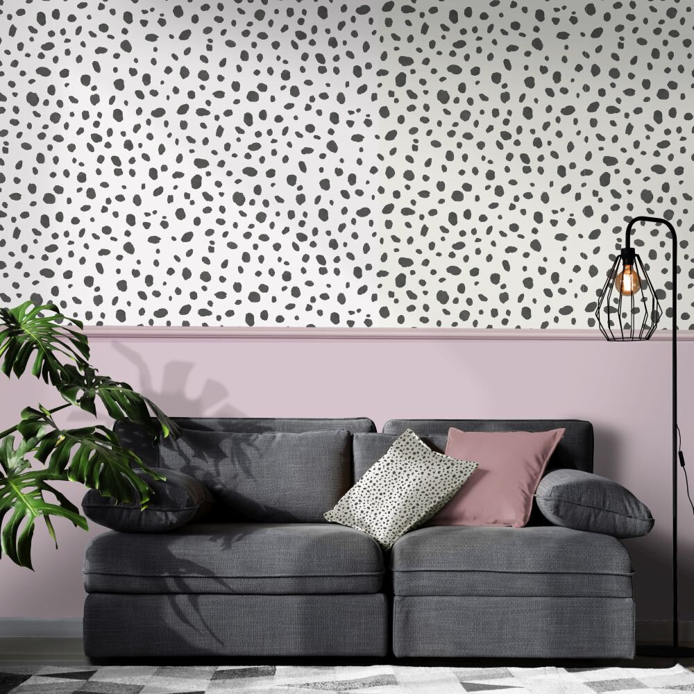 Dalmatian Wallpaper - Black / White - by Albany