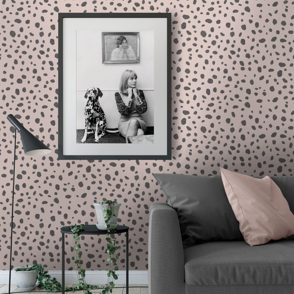 Dalmatian Wallpaper - Pink - by Albany