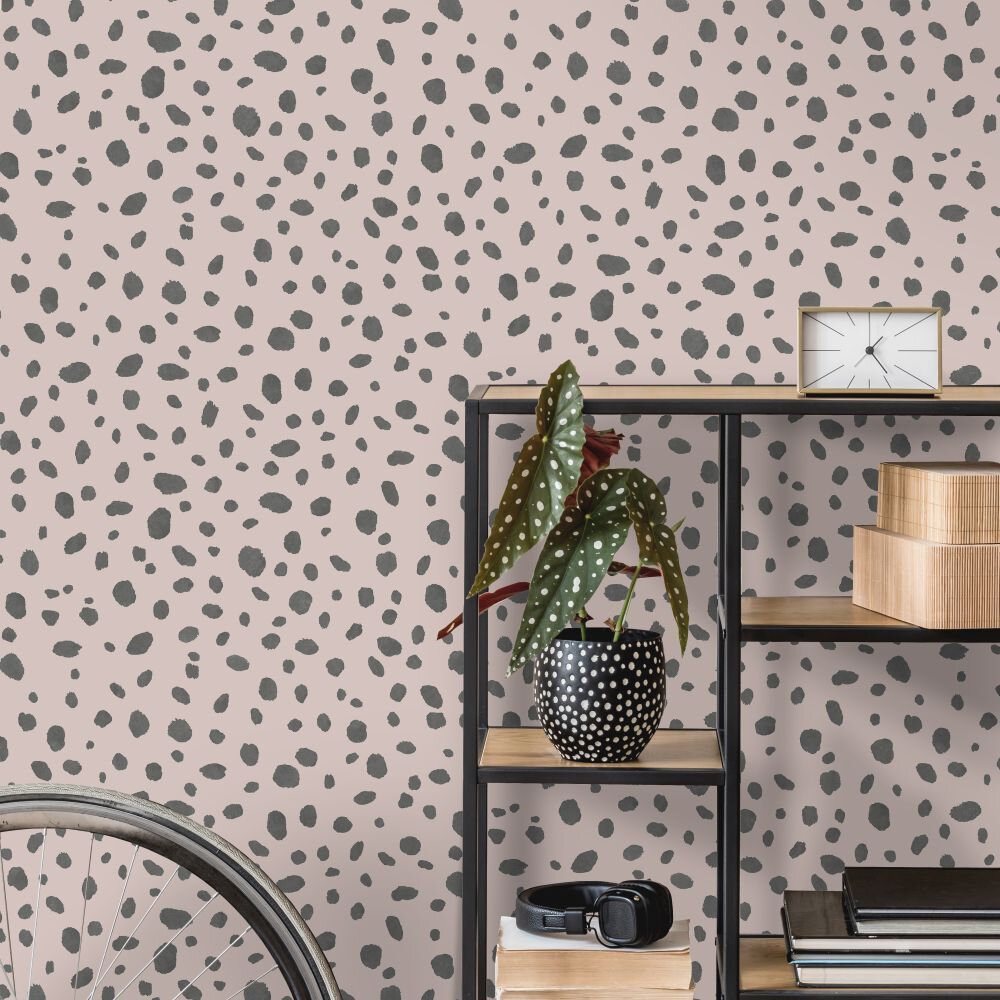 Dalmatian Wallpaper - Pink - by Albany