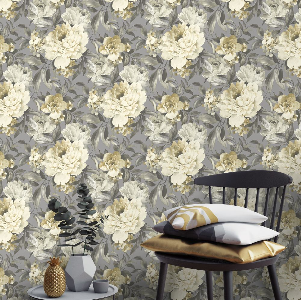 Gardenia Wallpaper - Ochre - by Albany