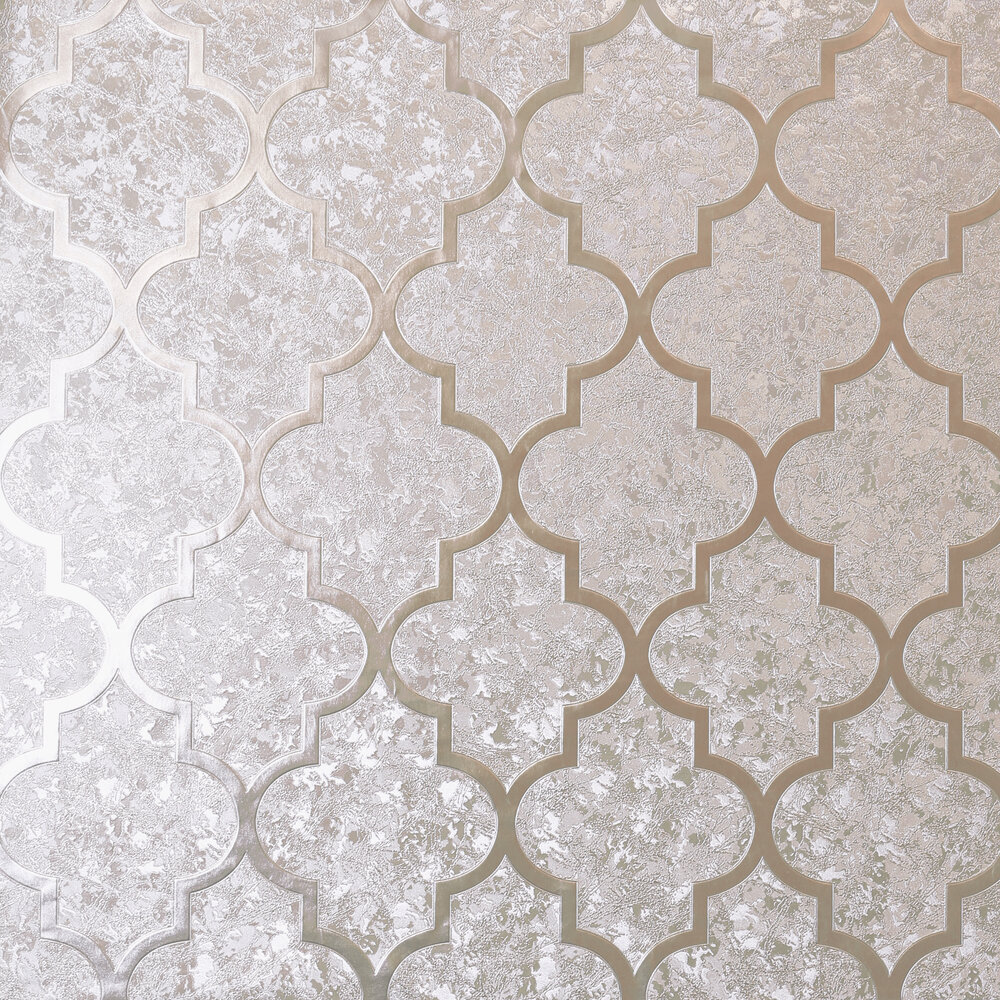 Velvet Trellis      Wallpaper - Rose Gold - by Arthouse