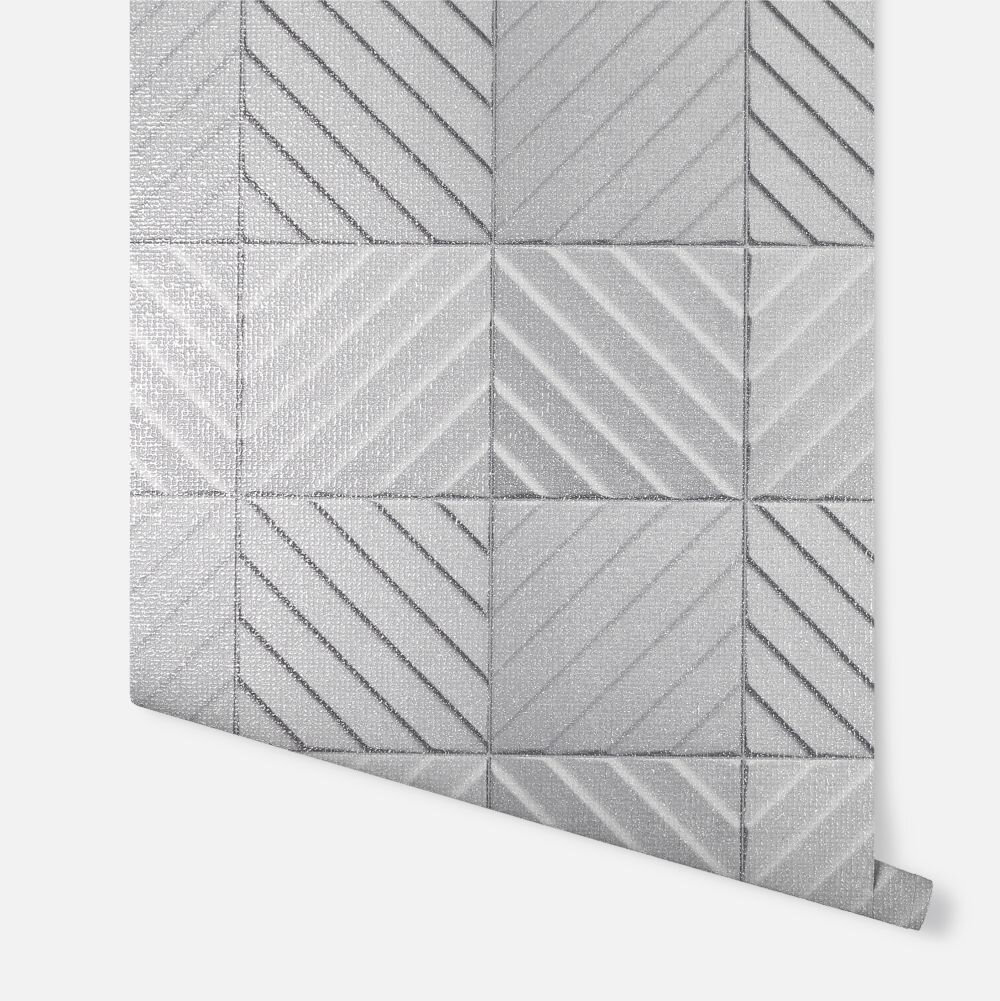 Hotel Tile                     Wallpaper - Grey - by Arthouse