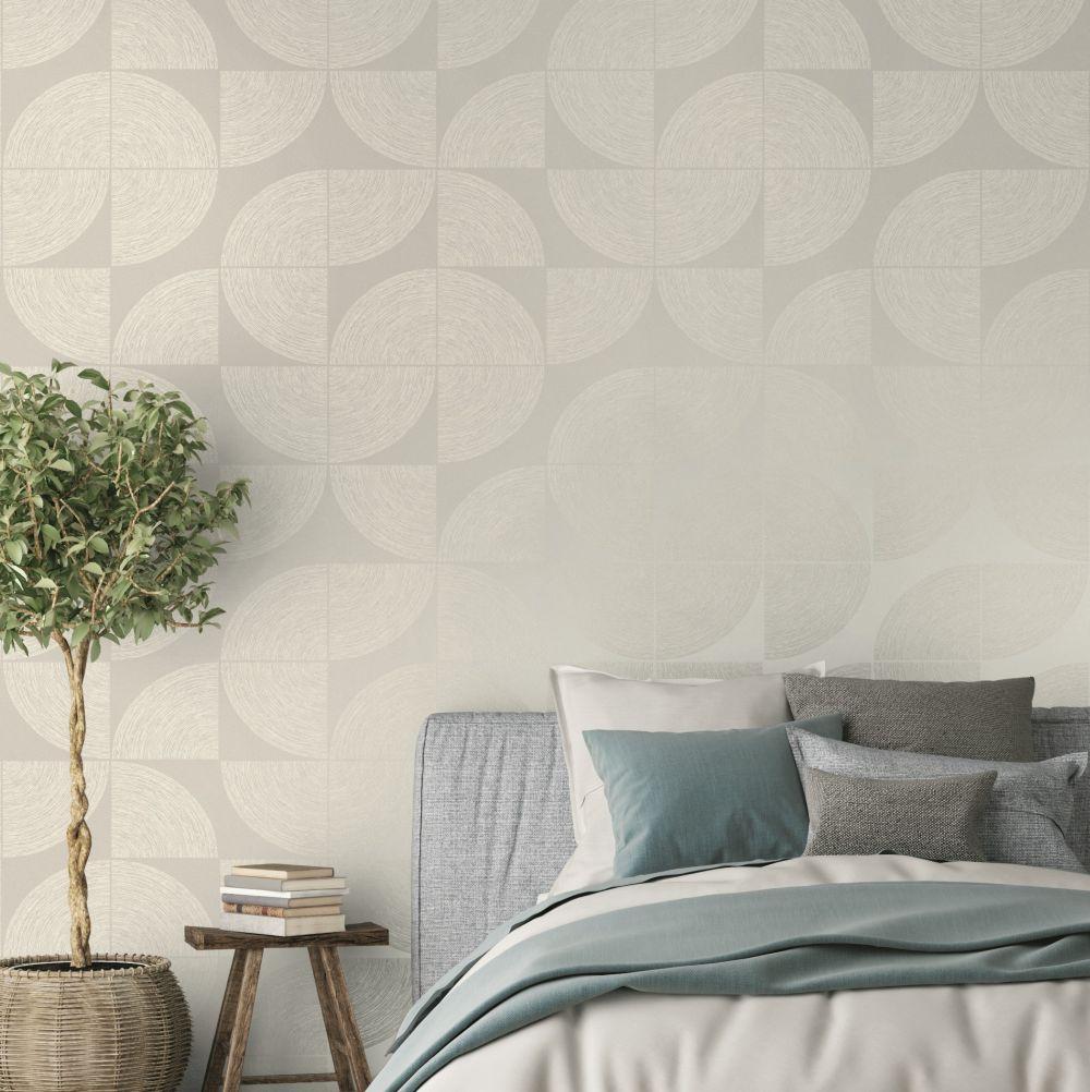 Orbit Wallpaper - Grey - by SK Filson