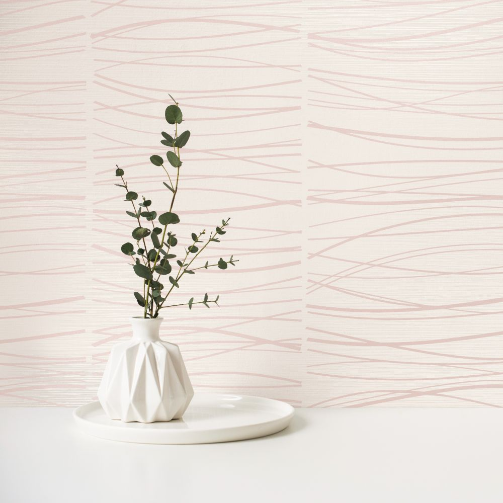 Wavy Lines Wallpaper - White - by SK Filson