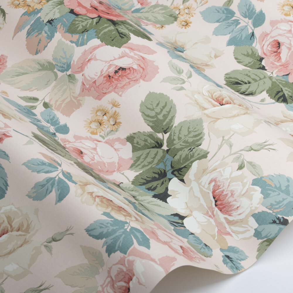 Chelsea Wallpaper - French Rose - by Sanderson