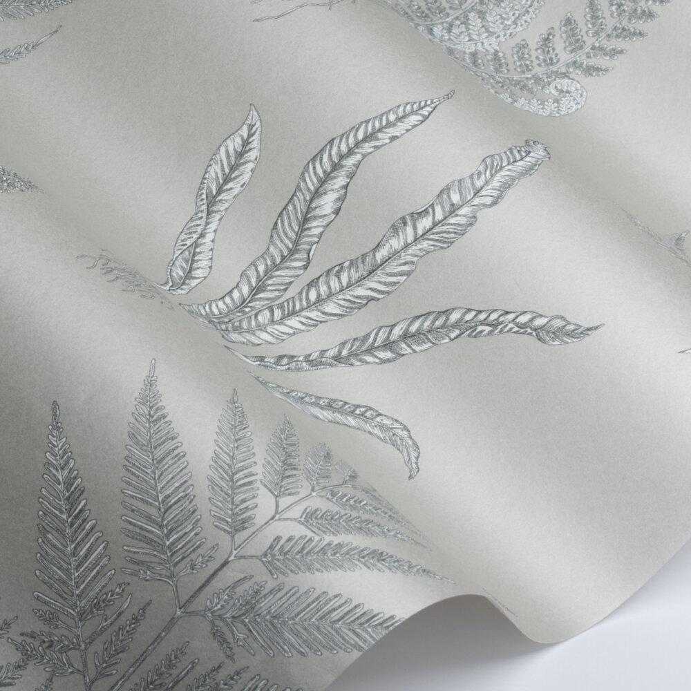 Woodland Ferns Wallpaper - Soft Pewter - by Sanderson