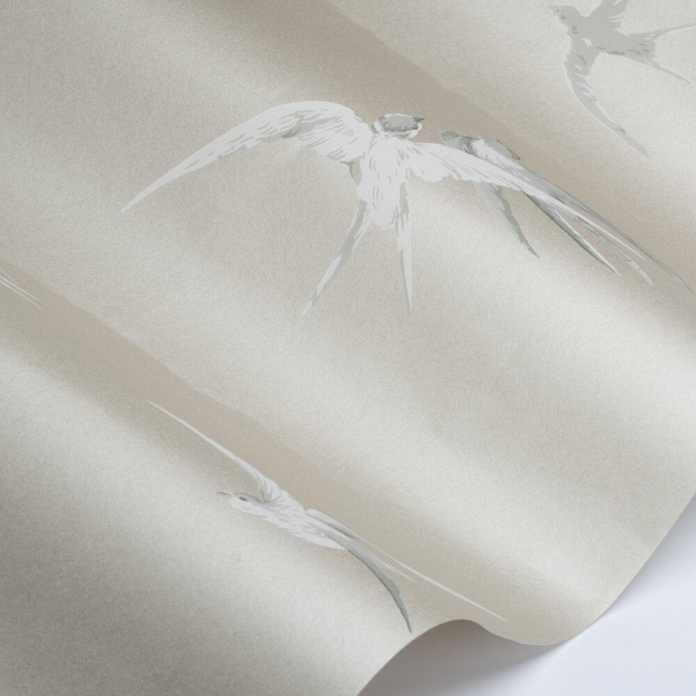 Swallows Wallpaper - Mistflower - by Sanderson