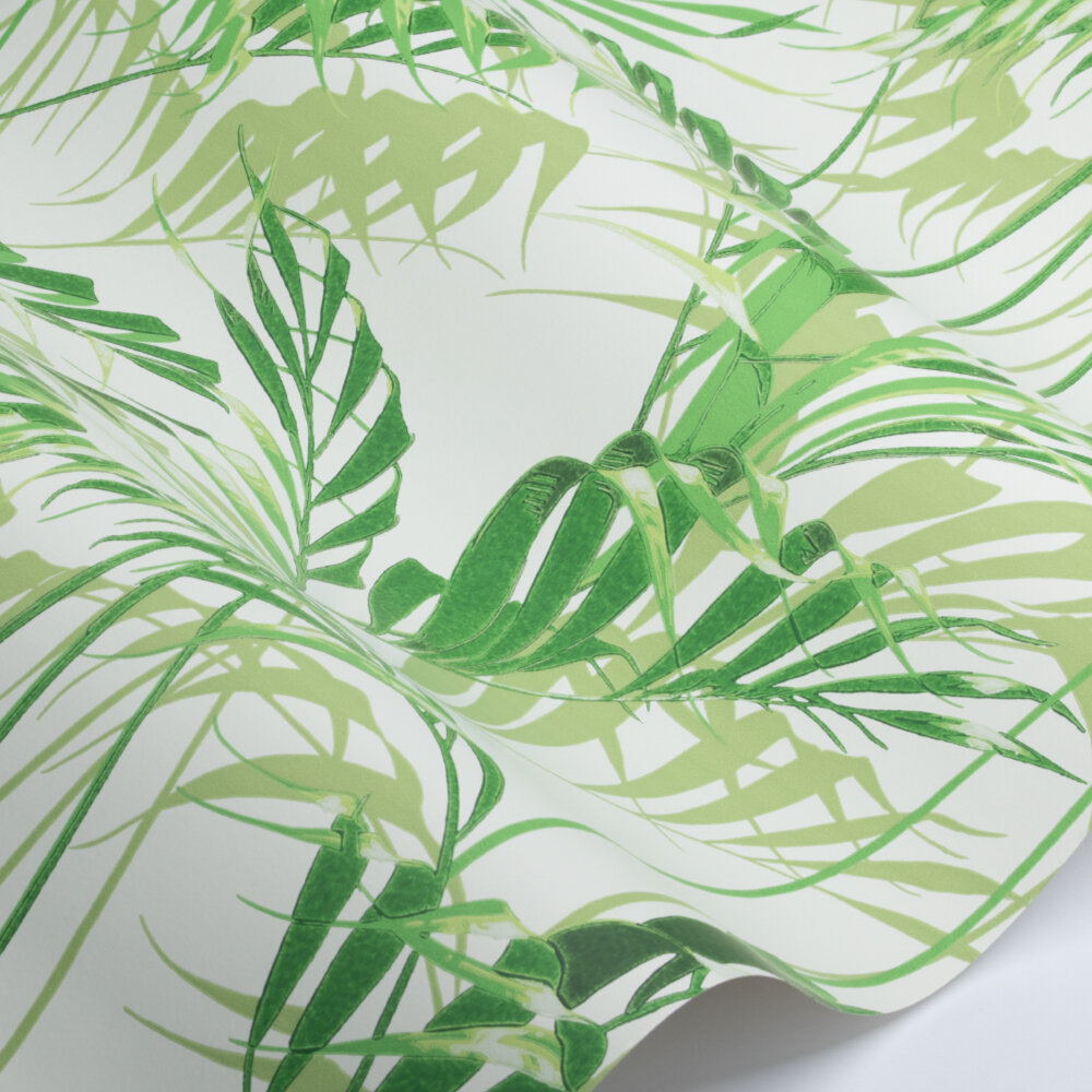 Palm House Wallpaper - Botanical Green Bright  - by Sanderson