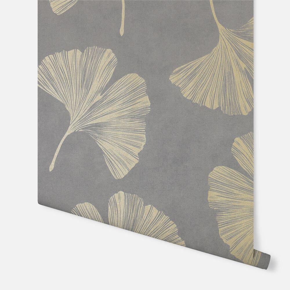 Ginkgo Leaf  Wallpaper - Mocha - by Arthouse